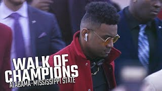 Alabama's Walk of Champions prior to Mississippi State game