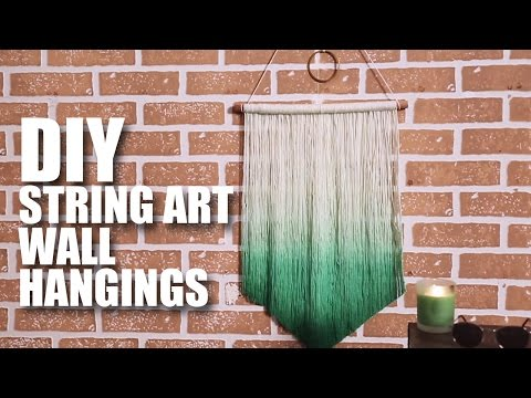 How to make a DIY String Art Wall Hanging