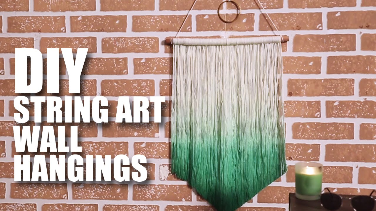 Charming How To Make A DIY String Art Wall Hanging   YouTube