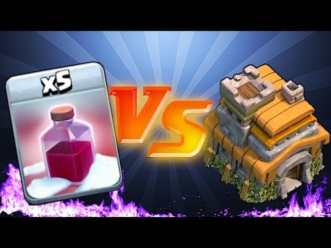 Clash Of Clans 🔸SANTA SPELL vs. TH7 😀 TROLL RAIDS🔸(trolling lower level players)