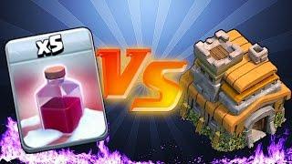 Clash Of Clans 🔸SANTA SPELL vs. TH7 😀 TROLL RAIDS🔸(trolling lower level players)