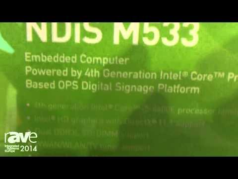 ISE 2014: NEXCOM Demonstrates NDiS M533 OPS Digital Signage Platform