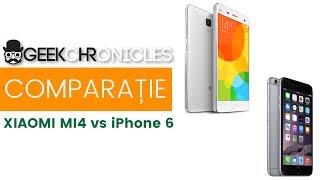 Xiaomi Mi4 vs iPhone 6: Performanta, Multitask și Baterie