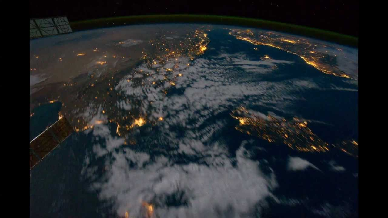 View of earth from space station night 02 18 10 2011 for Space station usa