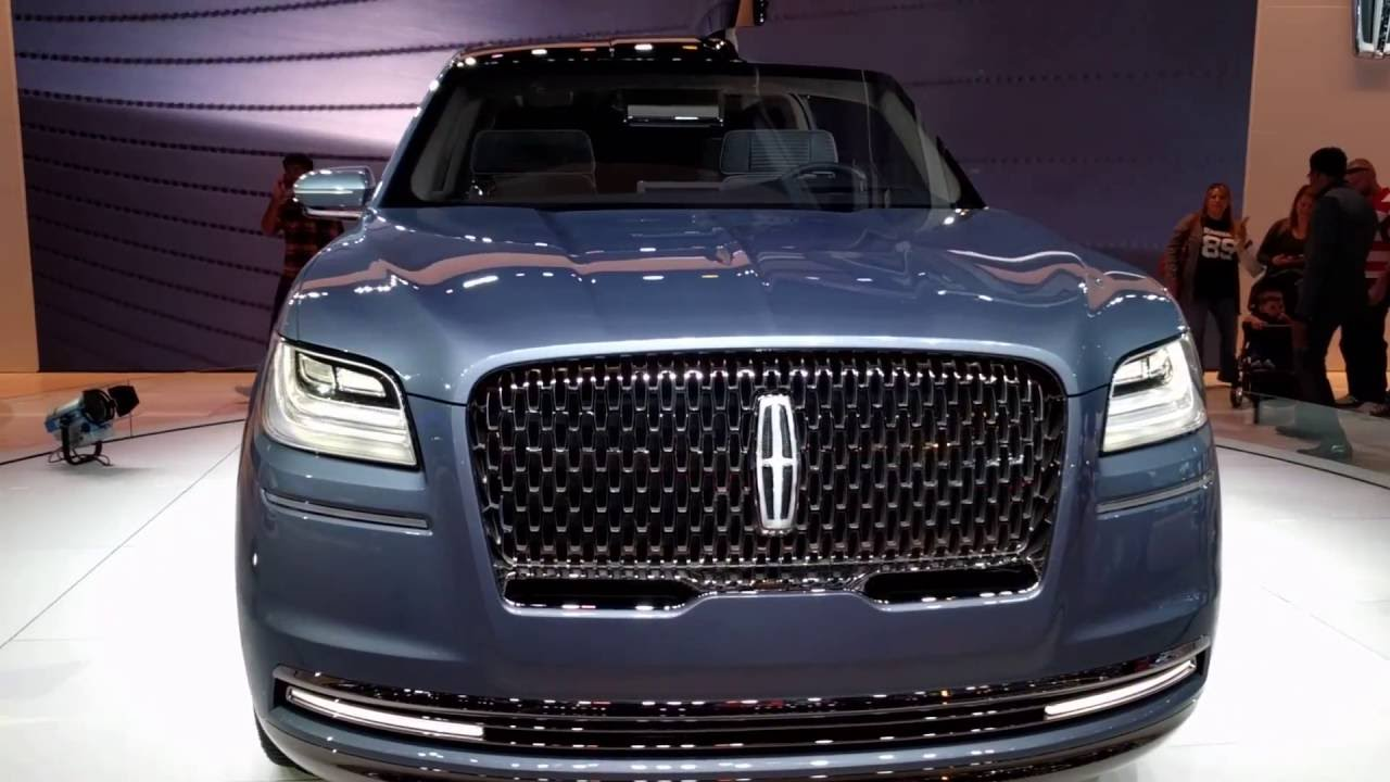 LA Auto Show Lincoln Navigator 2018 - 2019 new concept first look - YouTube
