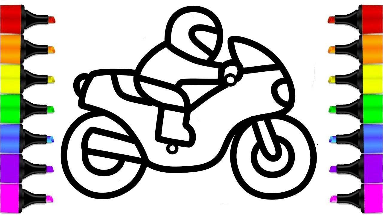How To Draw A Motorcycle Easy Step By Step L Drawing And