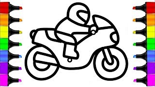 easy drawing motorcycle bike step draw coloring pages dirt racing clipartmag learn getdrawings outline helmet