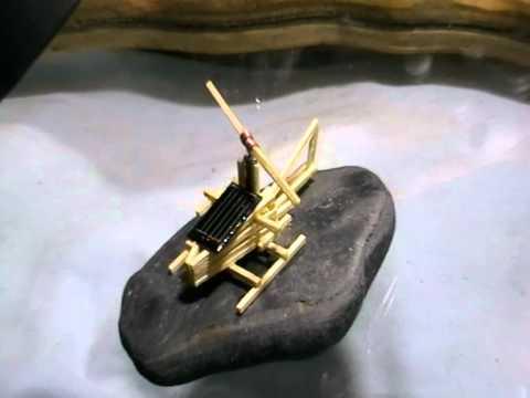 (HELICOPTER) KINETIC SOLAR POWERED ART MODEL