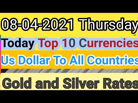 Today Top World Currency/Us Dollar Exchange Rate To All Countries|Gold \u0026 Silver|Today Gold\u0026 Currency