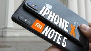 XIAOMI REDMI NOTE 5 против АЙФОН Х! Сравнение камер смартфонов. Фото и видео съемка