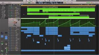 Logic Pro X Midi Construction Template Warm Up Melodic Progrerssive Style