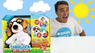 Sherlock Electronic Interactive Hide & Seek Puppy !    Toy Review    Konas2002