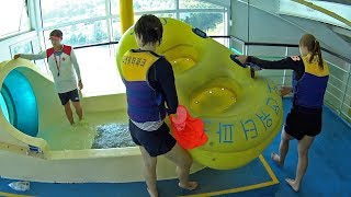 Dangerous Tube Water Slide at The Ocean Waterpark