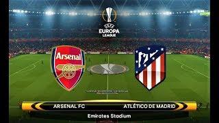 Arsenal vs atletico madrid | uefa europa league 2018 | pes 2018 gameplay hd