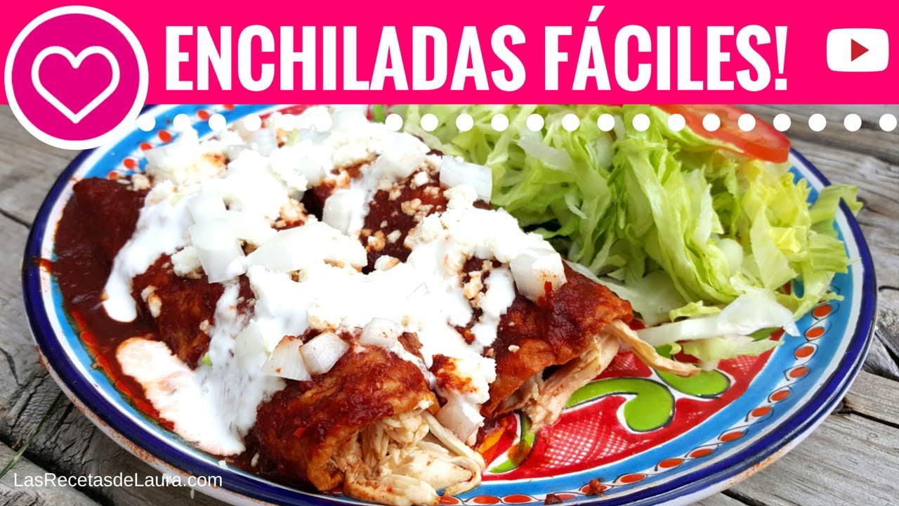 Deliciosas enchiladas f ciles y sin fre r las recetas de - Comida sana y facil para adelgazar ...