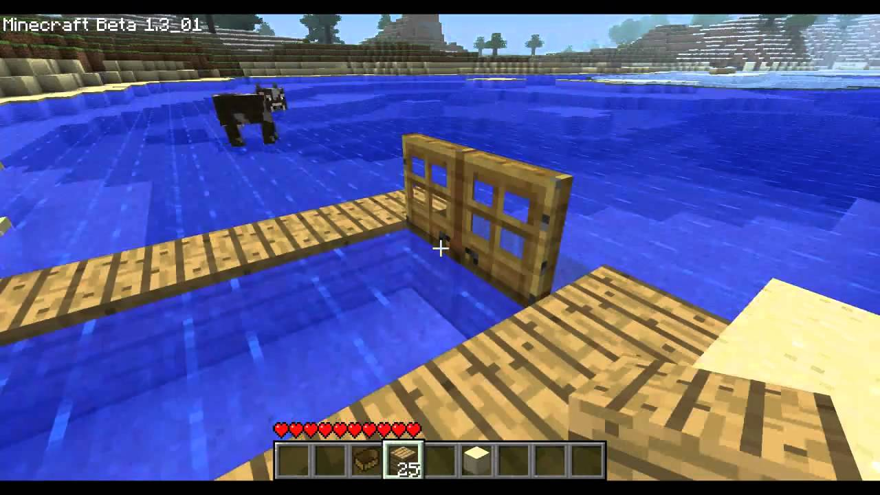 Minecraft how to make a dock in minecraft and not break your boat ...