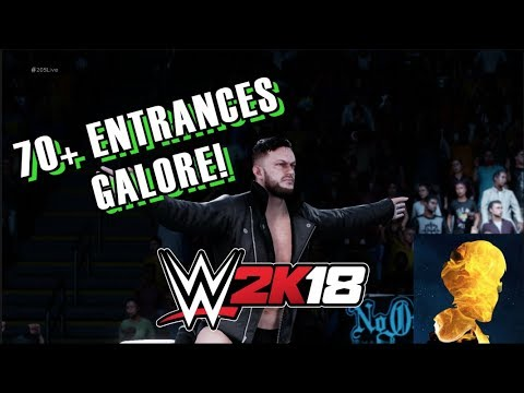 WWE 2K18 EXCLUSIVE LIVESTREAM! 70+ ENTRANCES! ROCK, ROODE, AJ, FINN, VADER, SETH, DEAN AND MORE!