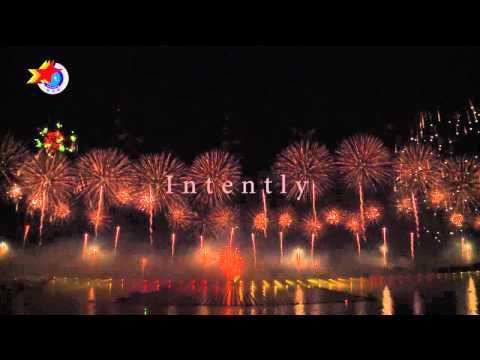 2012 The Seventh China Middle EXPO Laser Music Fireworks Show