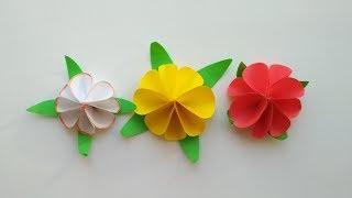 Поделки на 8 марта. Лилия. Как сделать цветы из бумаги своими руками.