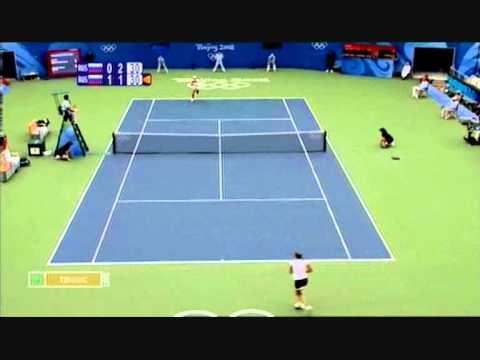 Dementieva - Safina Olympic Games Final Highlights Part 1