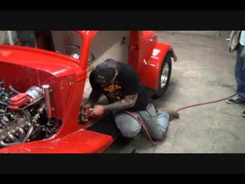 34 Ford Street Rod-Installing The Running Board Mat-Part 3