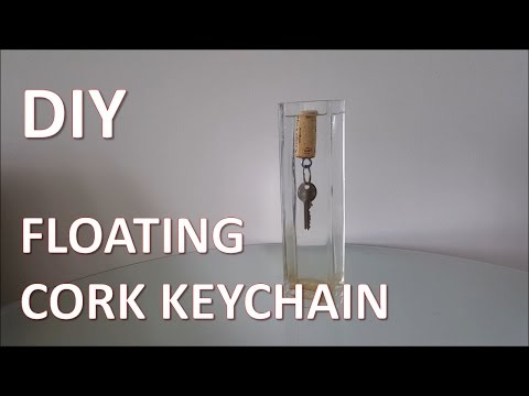 DIY Floating Cork Keychain
