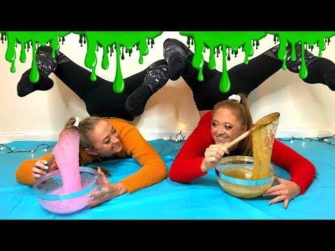 ACRO Gymnastics SLIME CHALLENGE!!   The Rybka Twins