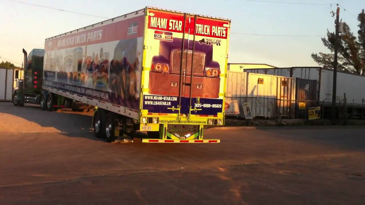 Truck Max Miami >> SHREK TRUCK AND MIAMI STAR TRUCK PARTS TRAILER - YouTube