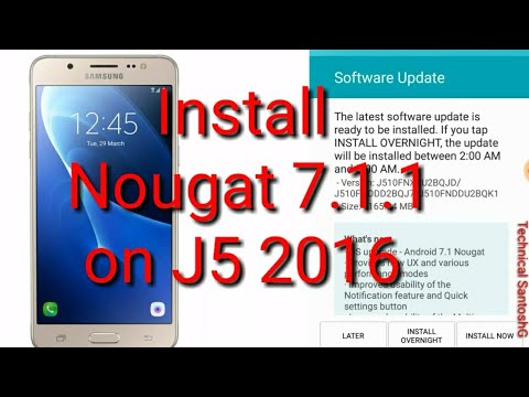 Samsung Galaxy J5 2016 - Official Android 7.1.1 Nougat
