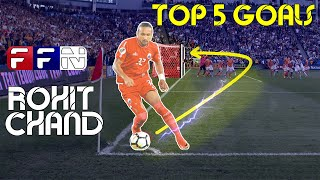 Top 5 Goals Of Rohit Chand