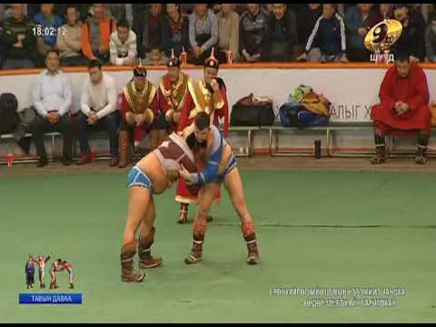 Mongolian president's Cup in honor of the wrestling 5 Round