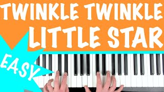 How to play 'TWINKLE TWINKLE LITTLE STAR'   Easy Piano Tutorial for Kids