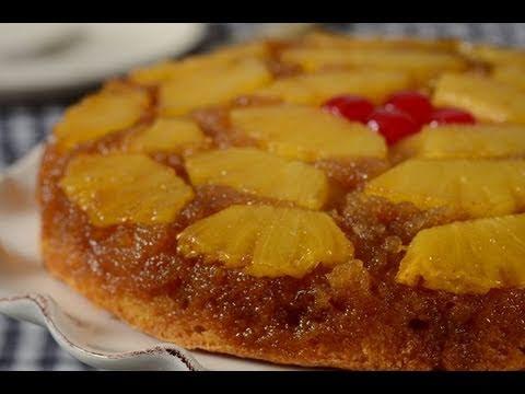 Pineapple Upside Down Cake Recipe Demonstration - Joyofbaking.com