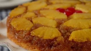 Pineapple Upside Down Cake Recipe Demonstration - Joyofbaking.com