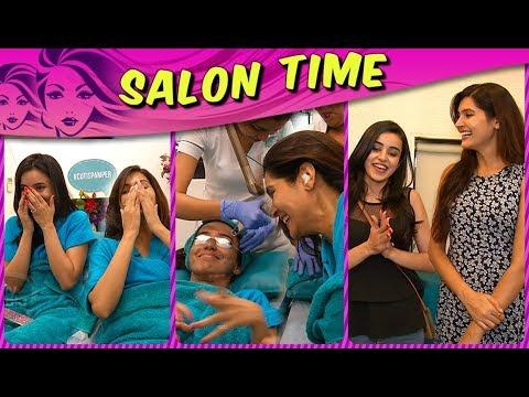 Sangeeta Chauhan & Ankita Sharma aka Meghana & Naina's Compatibility Test   Salon Time