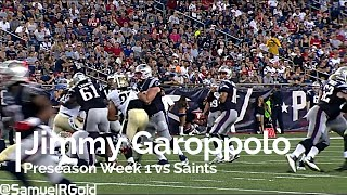 Jimmy Garoppolo's First Half versus Saints   Preseason Week 1 2016 (NFL Breakdowns Ep 21)