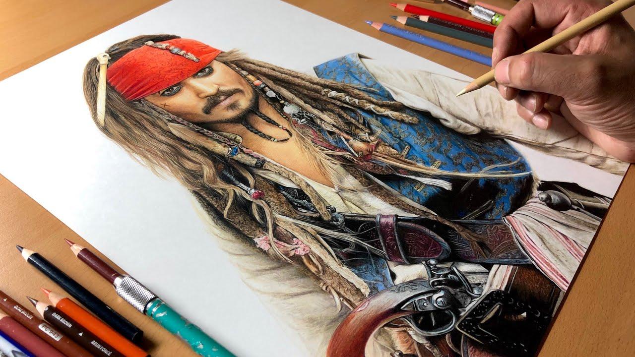 Drawing Captain Jack Sparrow - Timelapse | Artology