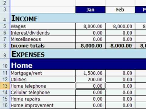 free excel personal budget template youtube. Black Bedroom Furniture Sets. Home Design Ideas