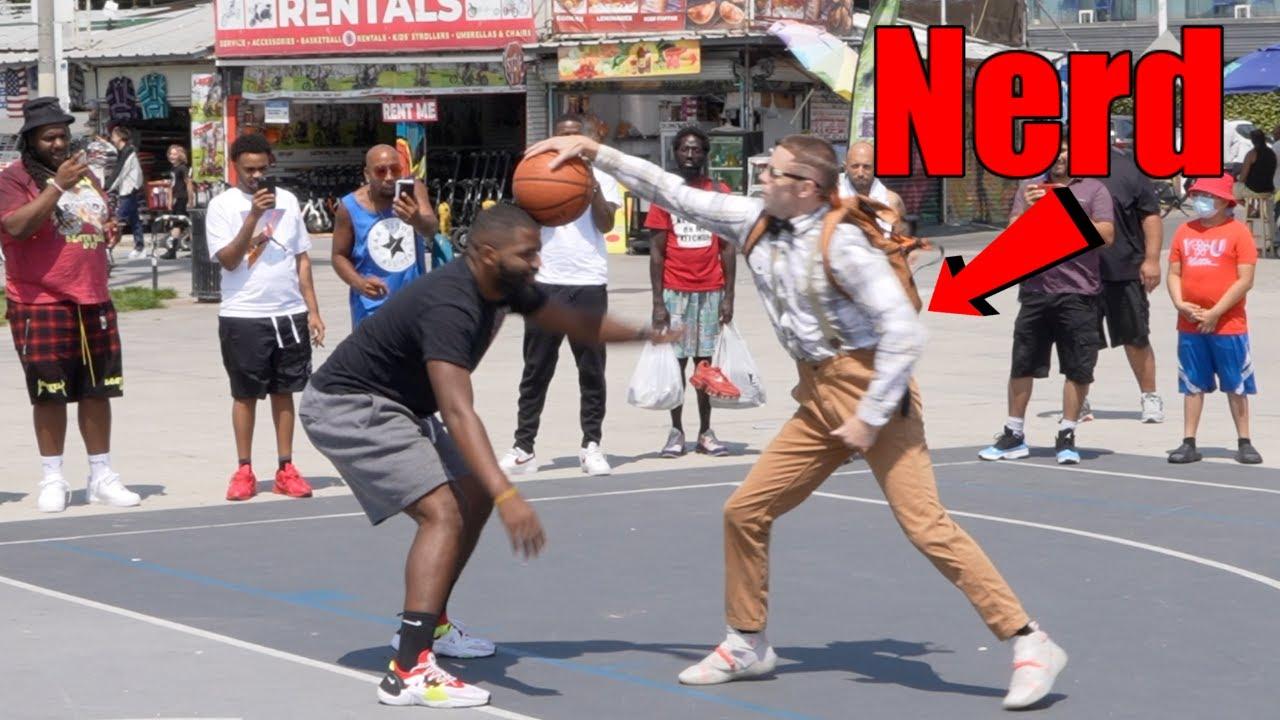 Download Nerd Exposes Hostile Hoopers at Venice Beach