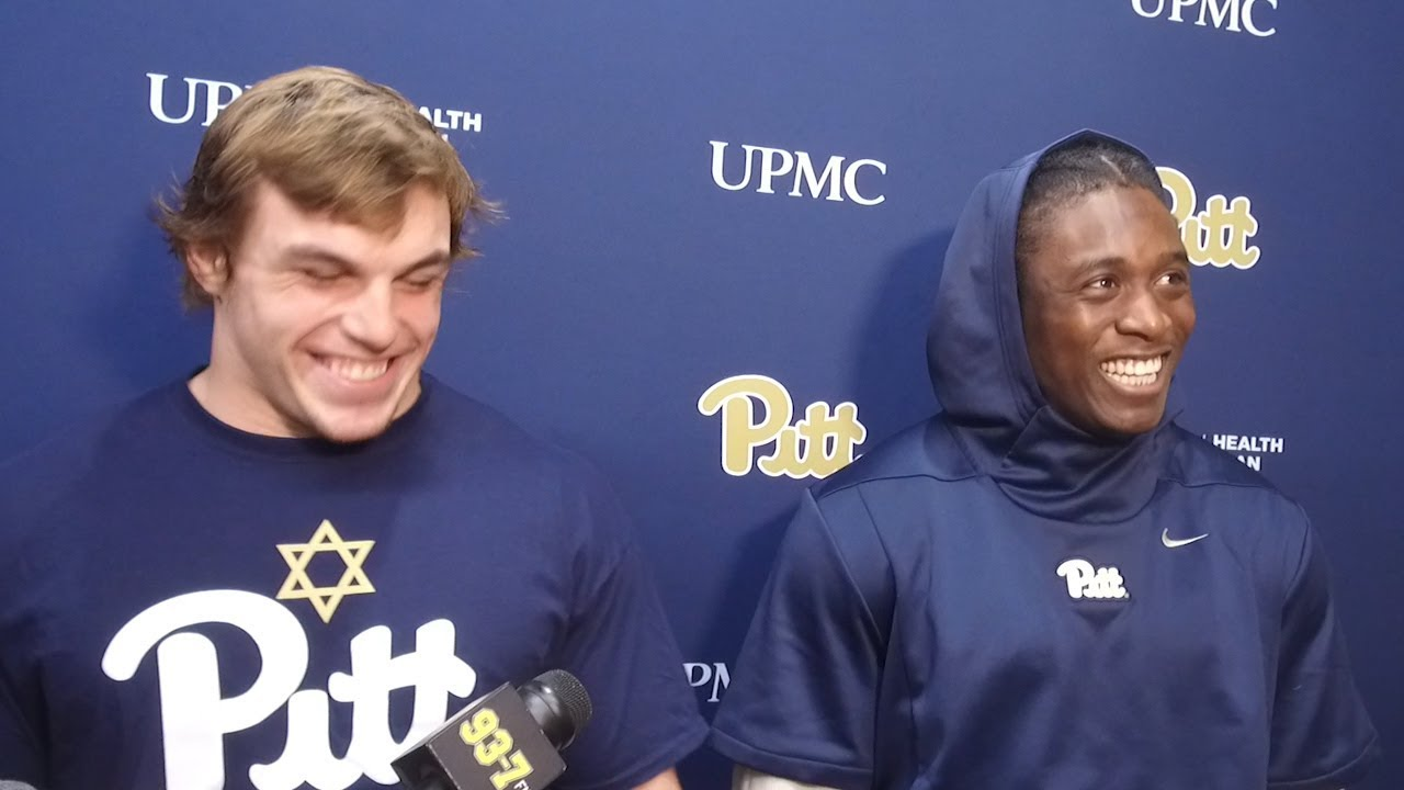 official photos 13fde 8a421 Pitt Football | 2018 Virginia Tech Week Interviews | Oluwaseun Idowu &  George Aston
