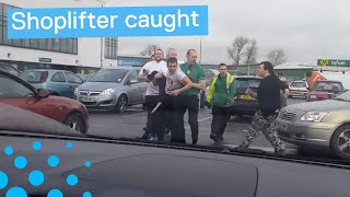 Shoplifter Caught Outside Shopping Centre in UK