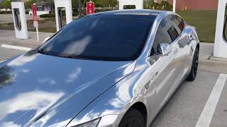 Reflective Silver Tesla Model S | AWESOME!!!