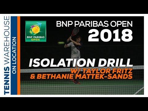 Isolation Drill W/ Taylor Fritz & Bethanie Mattek-Sands