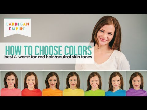 How To Wear the Right Colors for Your Skin Tone - Red Hair and Freckled Skin (Spring Season)