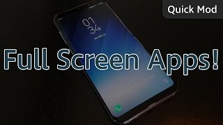 Today we're showing you how to force apps to go into full screen mo...