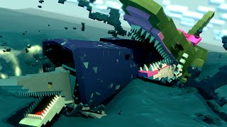 Mama Jaws Shark Attack Revenge Animated! (Minecraft Animation)