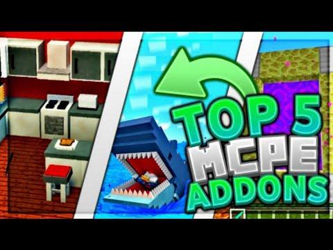 Top 5 Best Mcpe Addons 2020 1 14 Furniture Godzilla Cave Update Minecraft Bedrock Edition Youtube