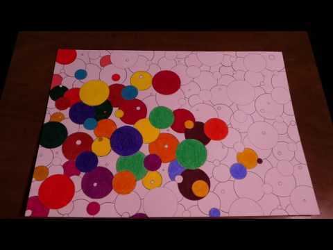 How to Draw Easy Abstract Circles Painting