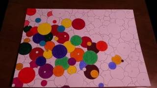 abstract easy circles draw painting