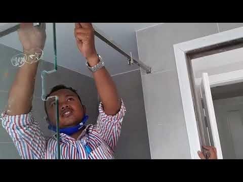 Phòng tắm kính - Hướng Dẫn Làm Phòng Tắm Đứng Cửa Mở Kính Cường Lực Cao Cấp Mới Nhất